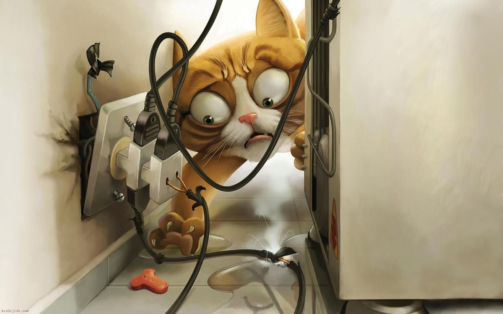 Восхитительный котик - рисунок на рабочий стол