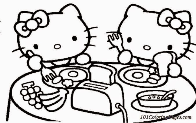 Hello Kitty Coloring Sheets  Free Coloring Sheet