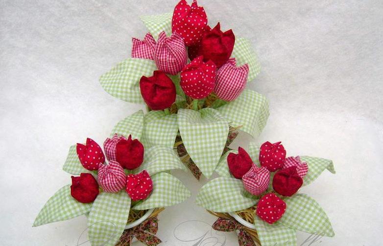 Цветы из ситца своими руками мастер класс 57