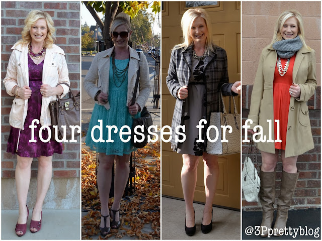 Four dresses for fall