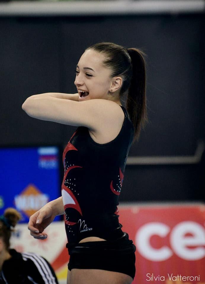 Romania39s Larisa Iordache At The 2012 European Gymnastics