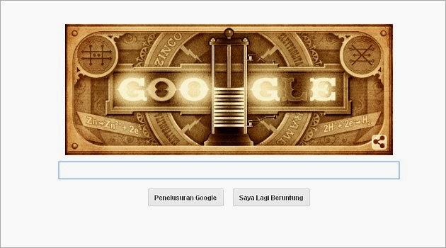 Google Doodle Rayakan Ulang Tahun Alessandro Volta