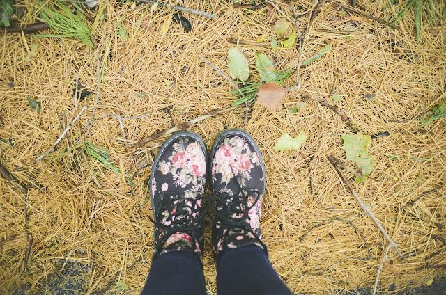 floral, doc martens, boots,