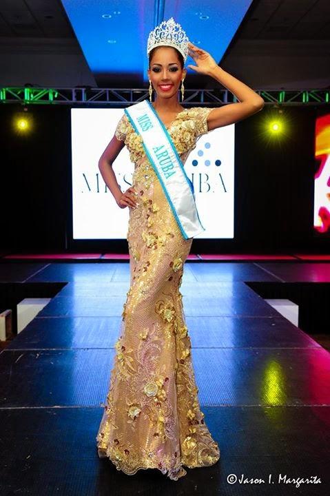 Miss Universe Aruba 2014 winnerDigene Zimmerman