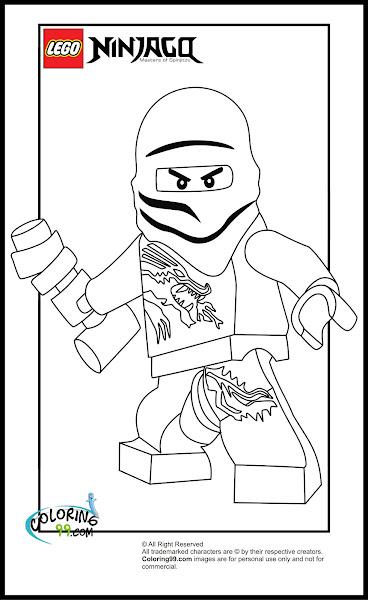 LEGO Ninjago Zane Coloring Pages