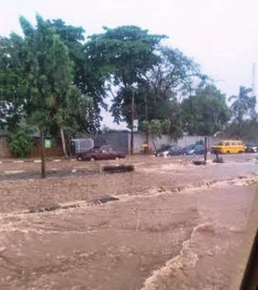 Photos From The Flooding In Lagos Yesterday