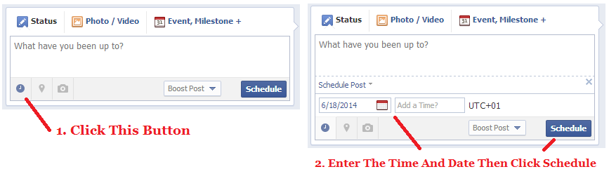 How To Scedule Posts On Facebook
