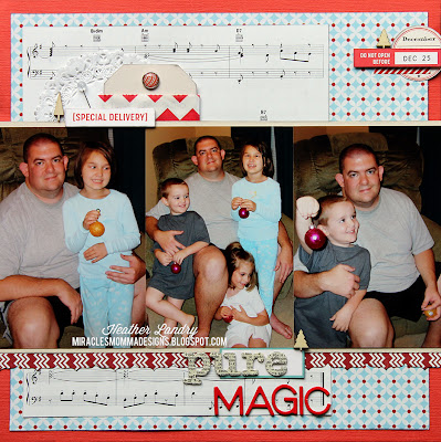 Christmas Magic_Family Portraits_Scrapbook Page_Heather Landry