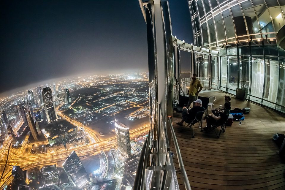 Wonderful World A View From Burj Khalifa At Night