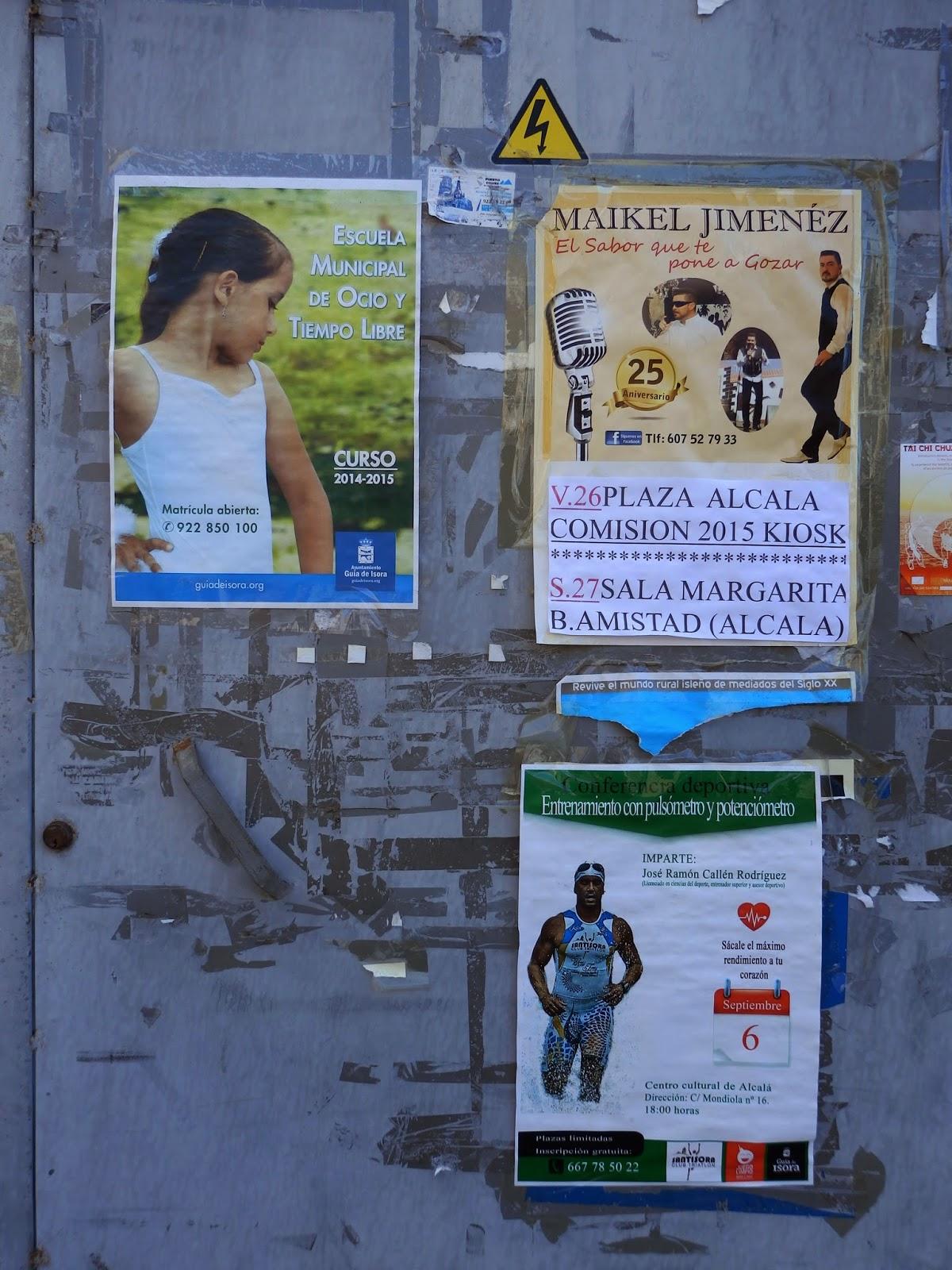 Posters at San Juan Teneriffe