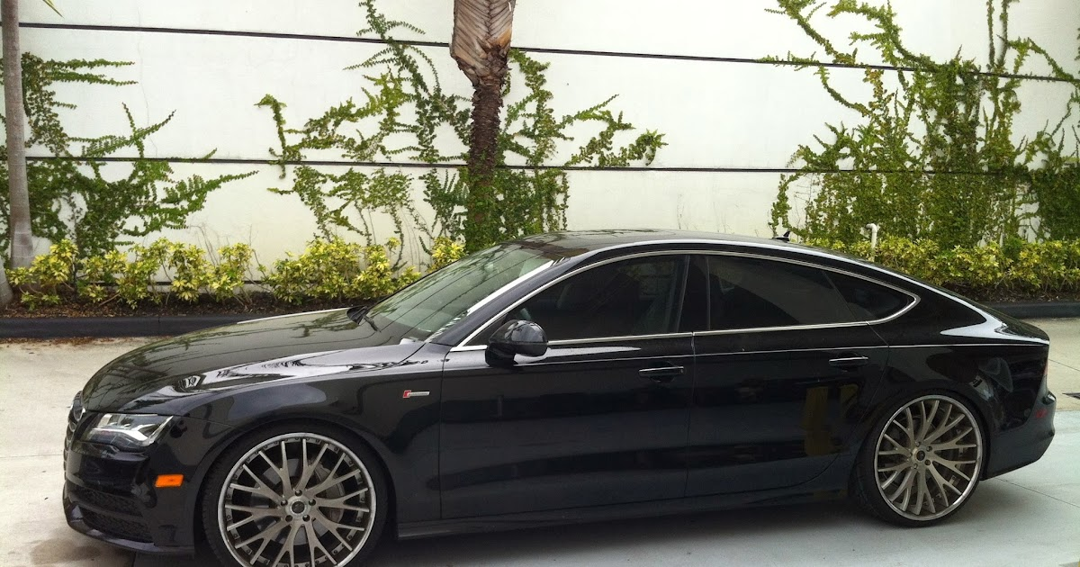 Exotic Cars On The Streets Of Miami Audi A7 With Savani Rims