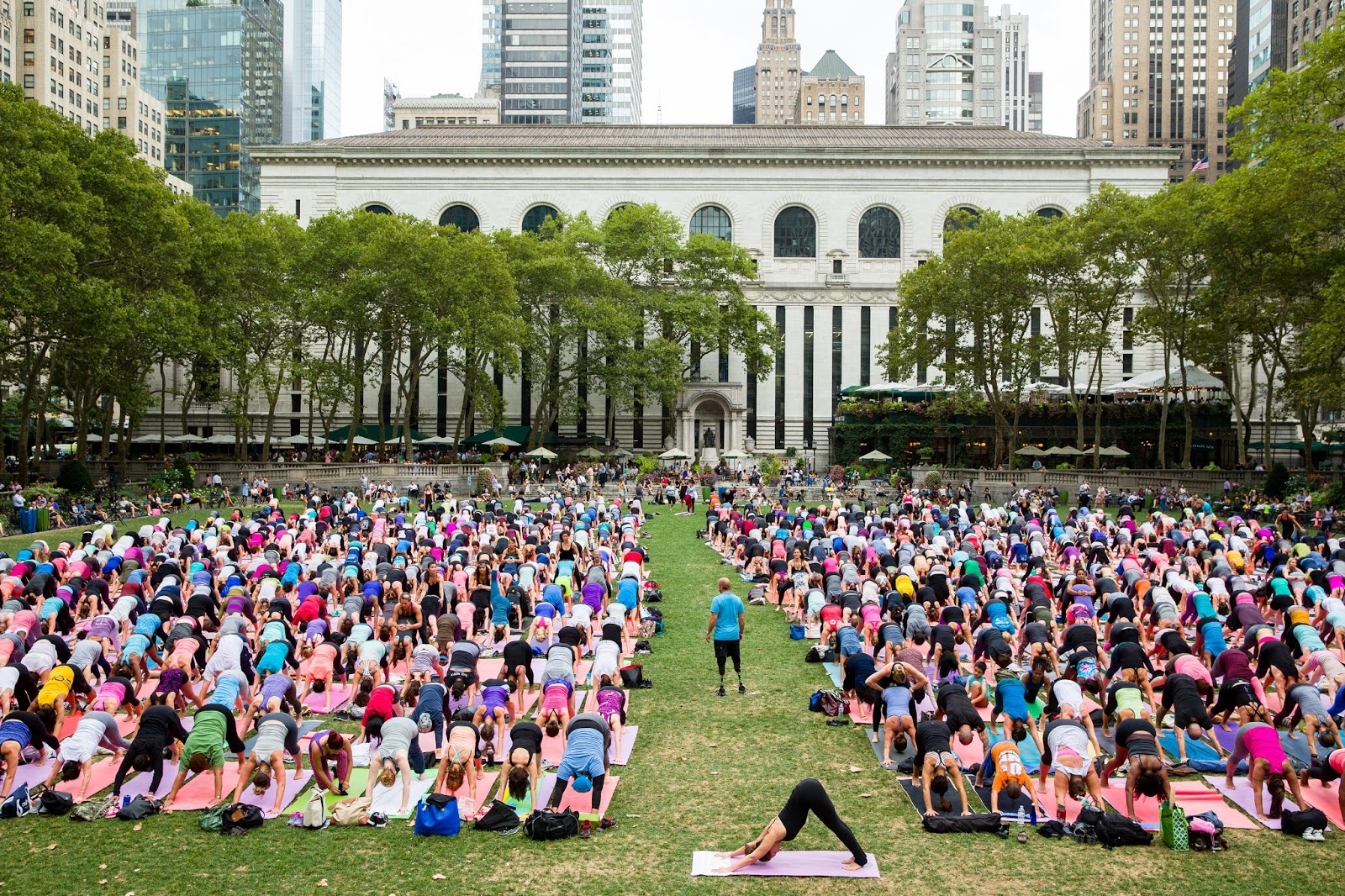 Image result for bryant park yoga
