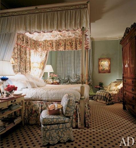 Romantic Bedroom Bed Design Bedroom Interior Accessories Elegant Black Bedroom Master Bedroom Design Ideas Pinterest: Eye For Design: Romantic Chintz Interiors....The Mario