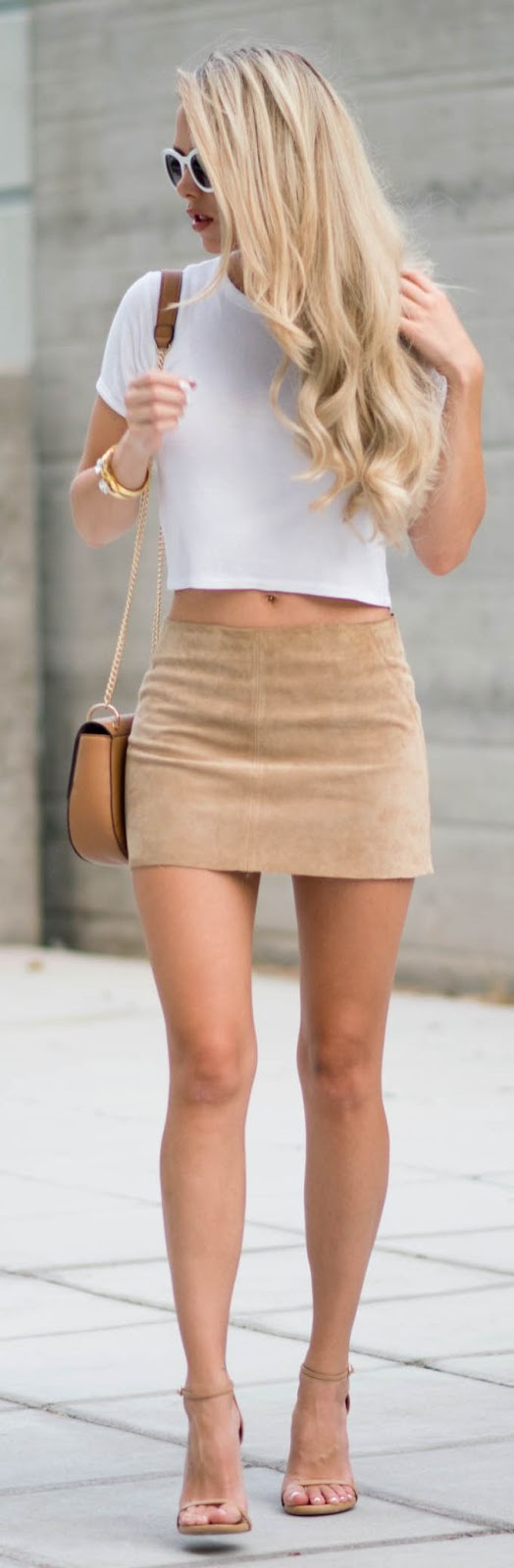 Suede Low Rise Skirt by Kier Couture