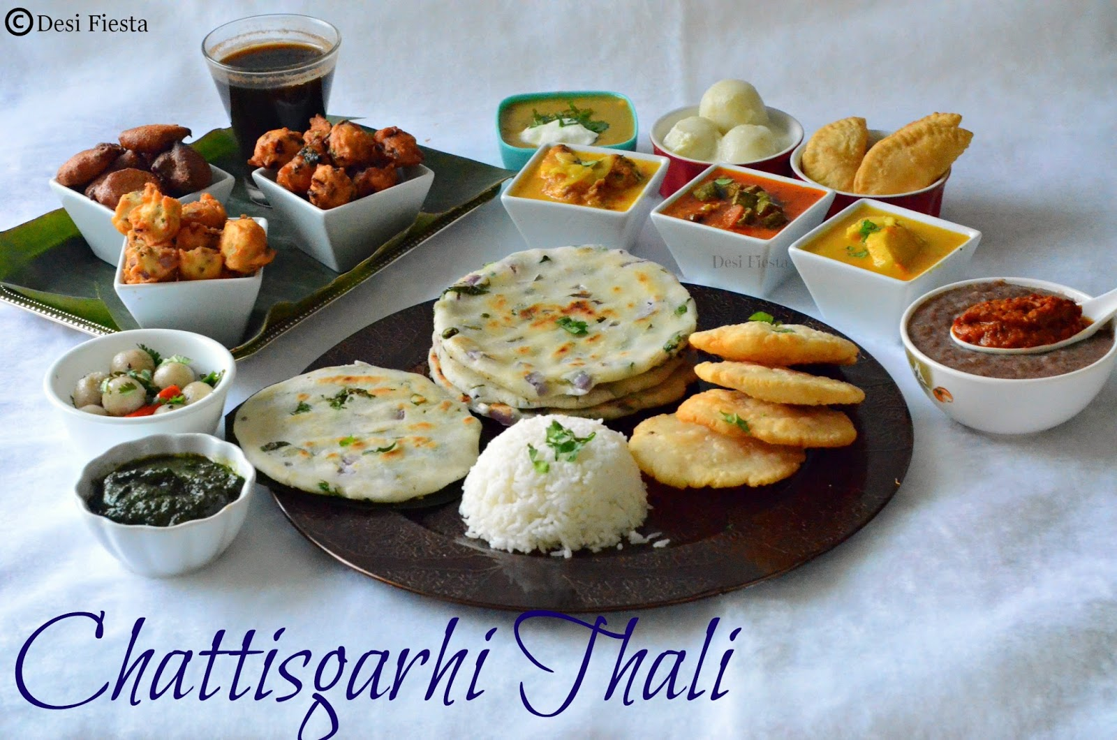 desi fiesta chattisgarhi thali chattisgarh cuisine. Black Bedroom Furniture Sets. Home Design Ideas