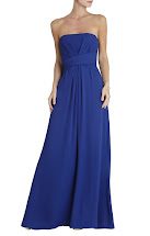 Max Dress Bcbg Blue Gown