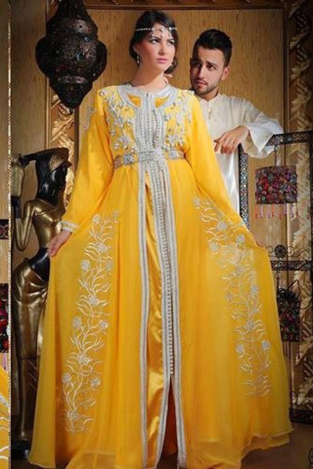 caftan jaune 2015 mariage