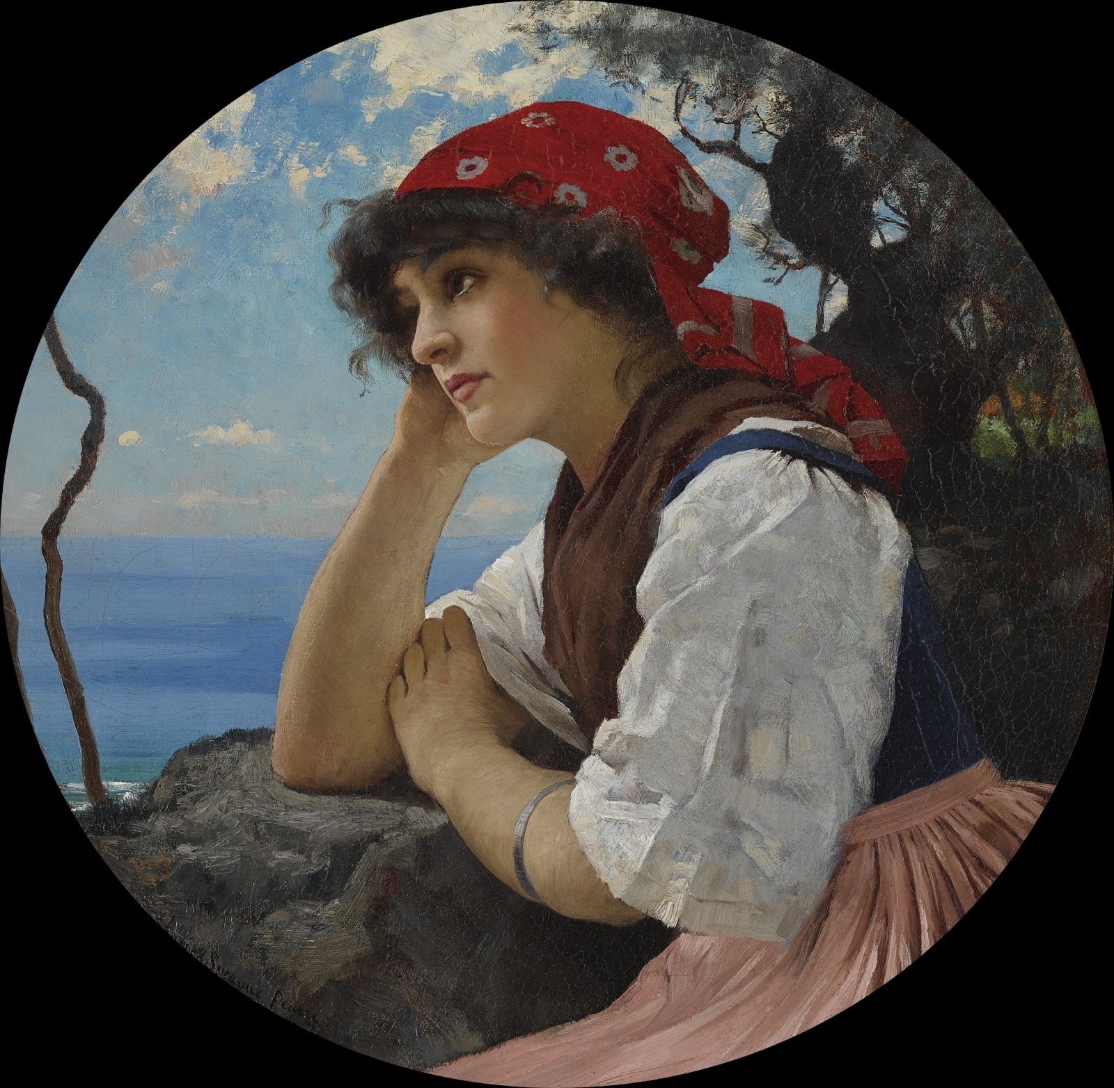 Charles Sprague Pearce the red kerchief
