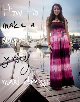 Su Sews So So: How to make a simple jersey maxi dress tutorial