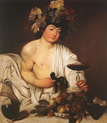 Bacchus fair to see - by Caravaggio, via Wikipedia - public domain