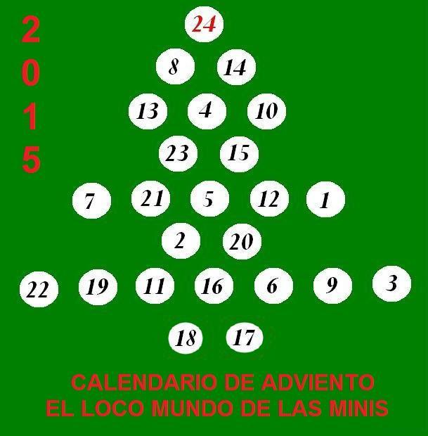 Calendario Adviento 2015 El Loco Mundo de las Minis