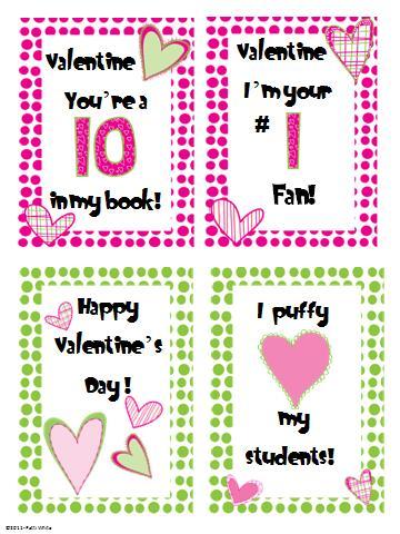 Valentineu0027s Day Cards Freebie