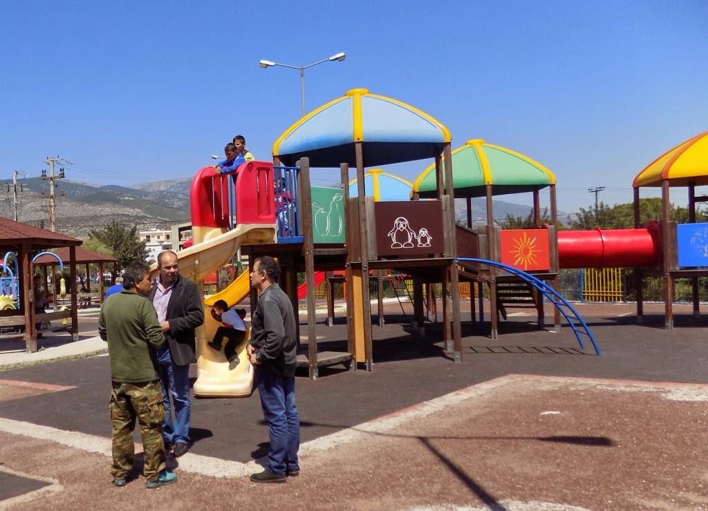 Κλειστή η Παιδική Χαρά στο Πάρκο Πόλης.