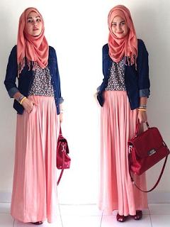 Contoh Model Baju Muslimah Casual