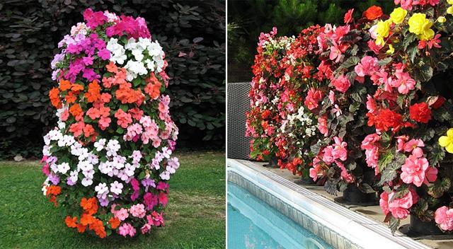 cerca de jardim em pvc : cerca de jardim em pvc:Torre de flores – Ideias Green