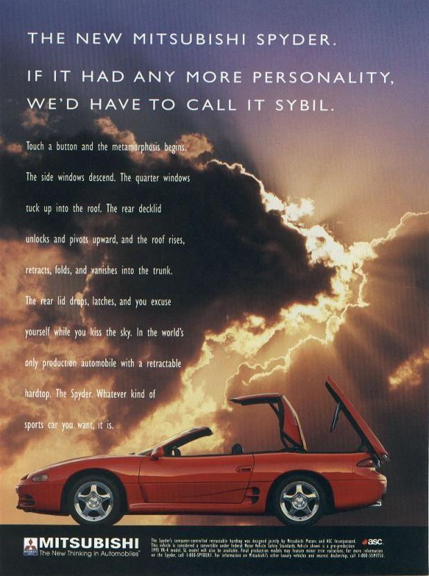 Mitsubishi 3000GT Spyder, broszura, reklama, katalog, brochure, folder