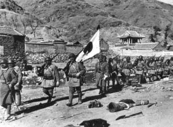Tropas japonesas en Manchuria
