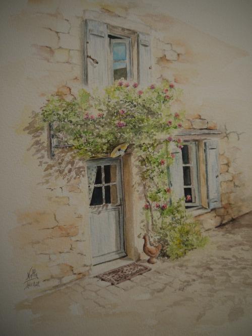 Aquarelles et dessins sur le blog de nelly bertails - La porte bleue en belgique ...