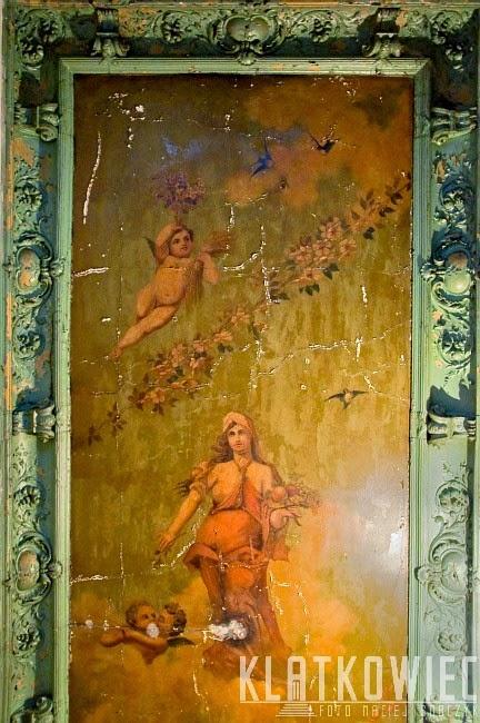 Wrocław: malowidło na suficie z kobietą