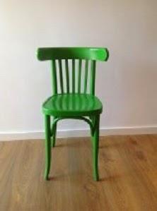 Silla verde de madera DIY