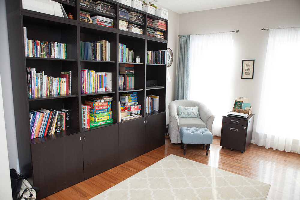 These Great Bookshelves From Ikea Hold Not Only Our School Books But Most Of Entire Family Library As Well My Camera Equipment Along With Photo