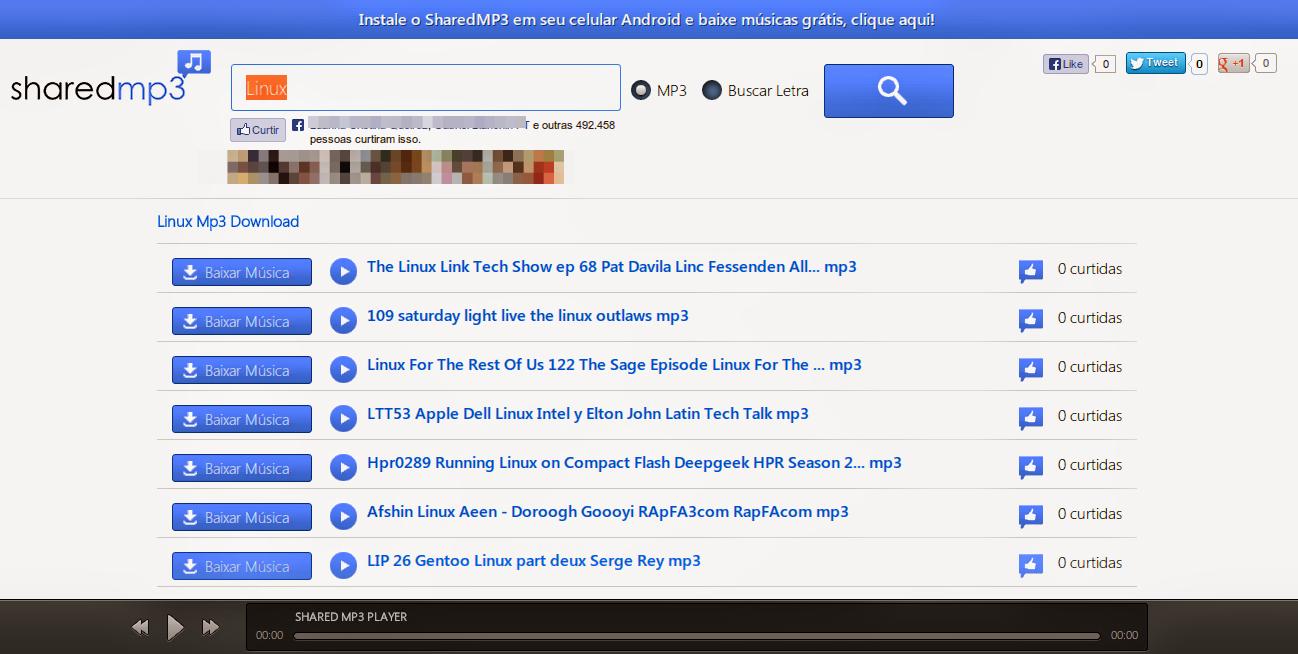 SharedMp3: O melhor site para baixar músicas da Internet