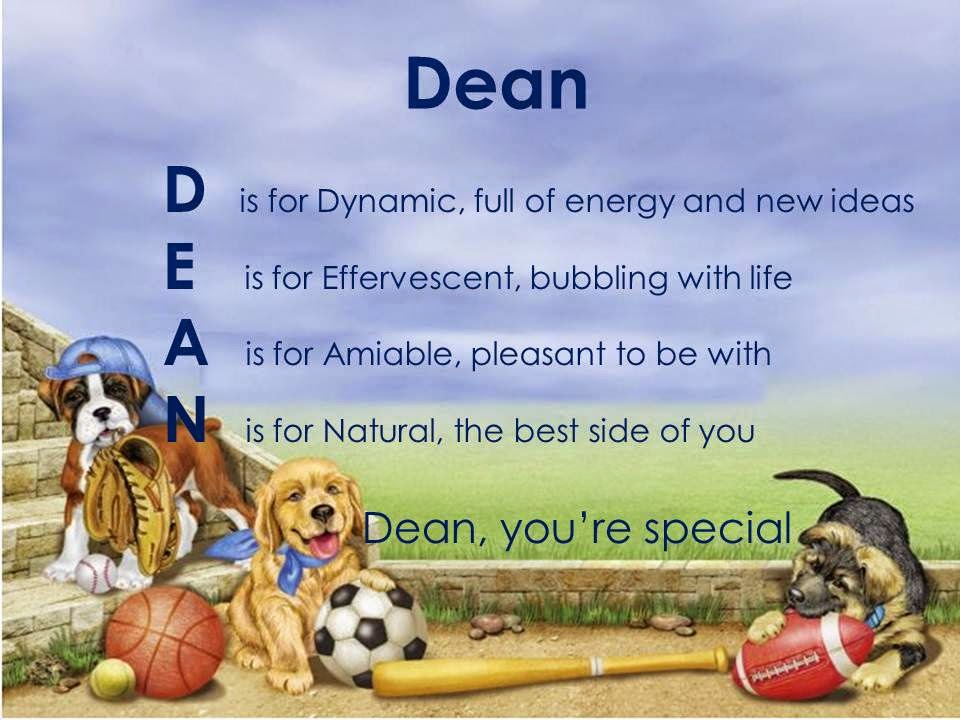acrostic name poems for boys  dean