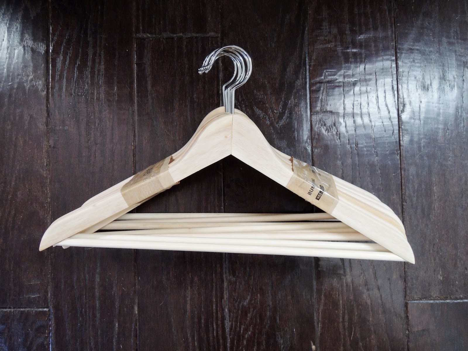 DIY golden hangers