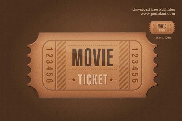 Ticket Icon PSD