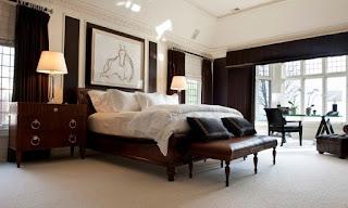 ห้องนอนสีดำ-ขาว