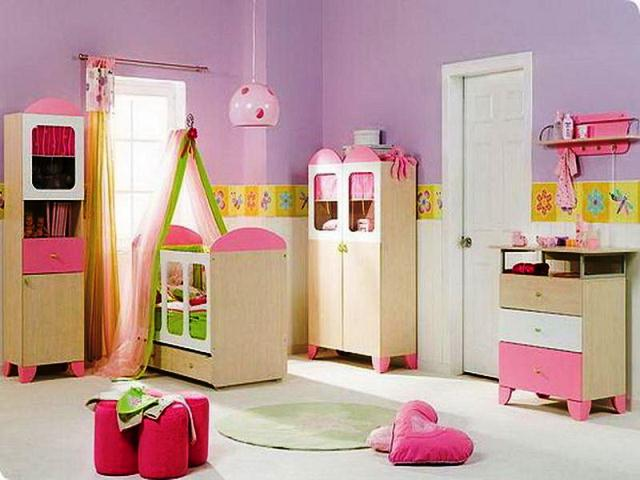 paint ideas for a baby girl's room