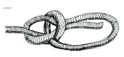 a knot in pen and ink by Ana Tirolese