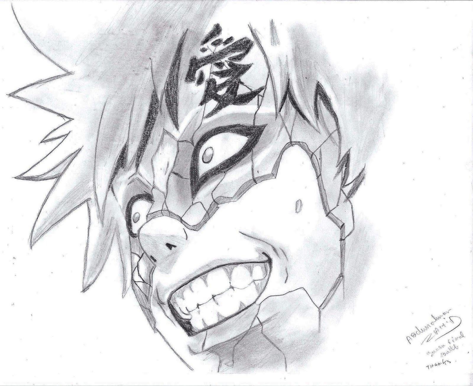 Gaara drawings in pencil