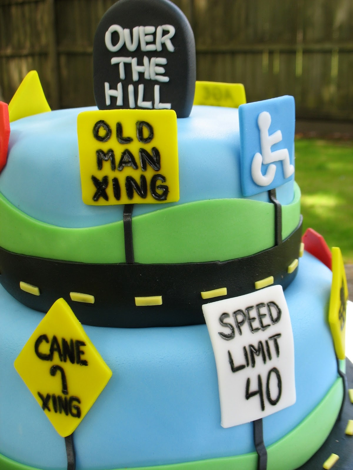 Creative Cakes by Christy Over the Hill cake