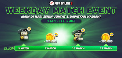 Weekday Match Event FO3 January 2016