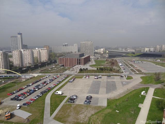 widok z wieży szybu Warszawa na Katowice