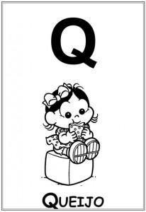 alfabeto turma da monica  baby letra q