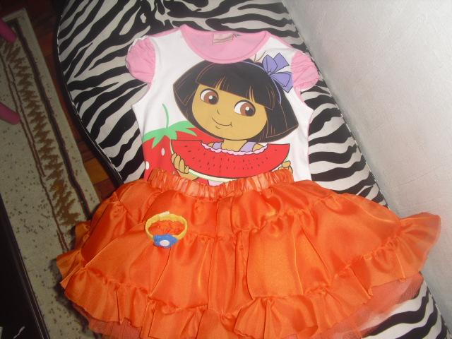 Fantasia Botas Dora Aventureira