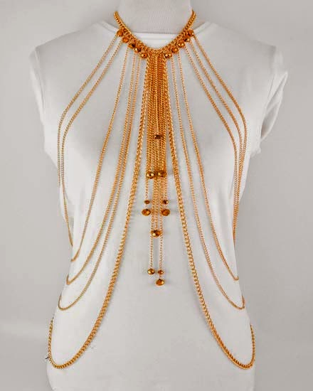 cheap necklace body chain jewelry