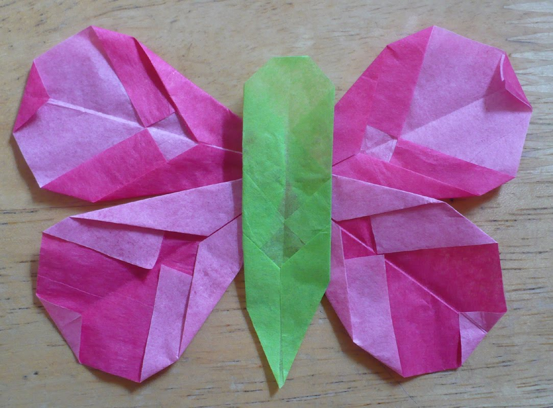 The enchanted tree folded tissue paper butterfly jeuxipadfo Image collections